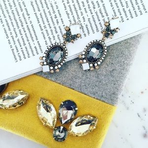 """Erica Rose Jewelry - """"Isabelle"""" Earrings    Gray Crystal Statement"""