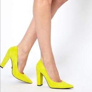 Kurt Geiger  Shoes - KG Kurt Geiger Yellow Belle Suede Heels