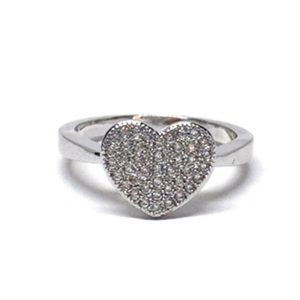 Jewelry - Sterling Silver Heart Cubic Zirconia Ring