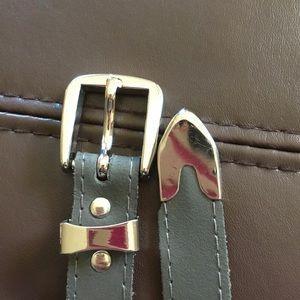 Accessories - Grey Leather Belt 24.5-29.5