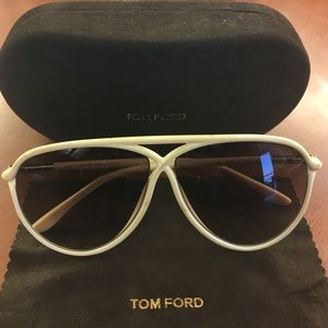 Tom Ford Accessories - Tom Ford Maximillian cream, gradient lens.