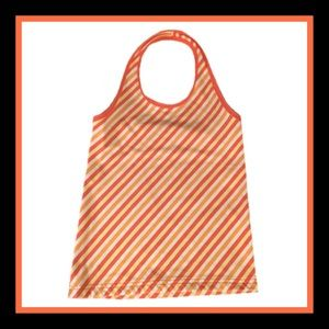 Circo Other - Circo Girl's Orange And White Striped Halter Top
