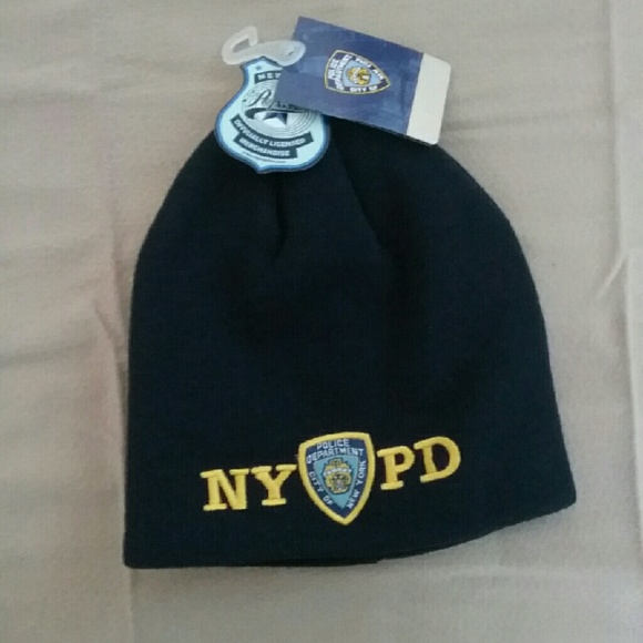 NYPD No Fold Winter Hat Beanie Officially Licenced b6232246ab7c