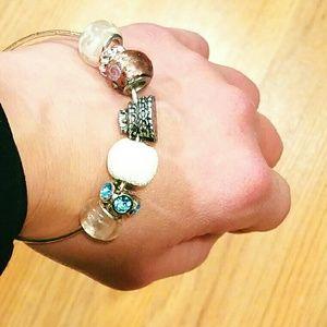 HANDMADE Bangle Bracelet - Bride/Wedding