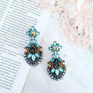 "Erica Rose Jewelry - ""Arielle"" Earrings    Blue Crystal Statement"