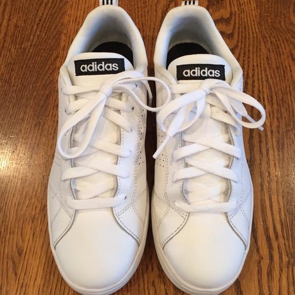 Le Adidas Neo Finto Cuoio Bianco E Scarpe Poshmark