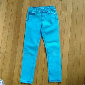 Justice Other - Justice bright teal blue skinny jeans