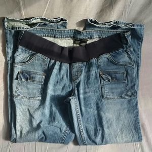 Maternity A.N.A Pants Blue Jeans XL/XG Denim