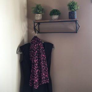 Pink Leopard Print Wrap Scarf