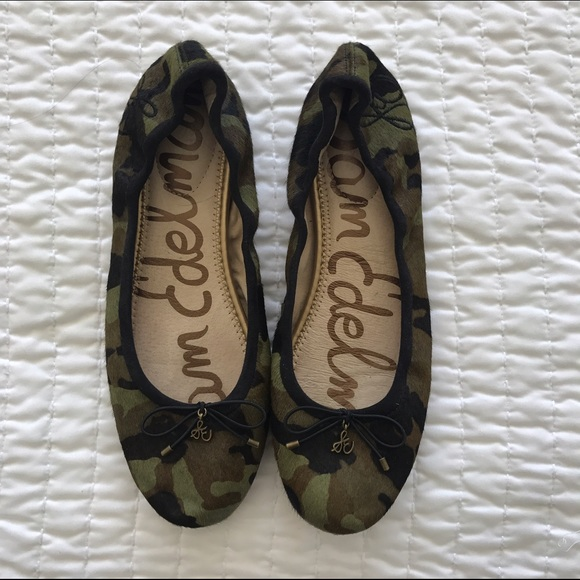 ba132d8eb7ab70 Sam Edelman Camo Calf Hair Ballet Flats Felicia. M 582f5650522b453030034b4b