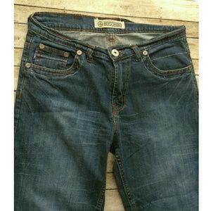 Moschino Denim - Sale- Vtg Moschino Peace Boyfriend Jeans