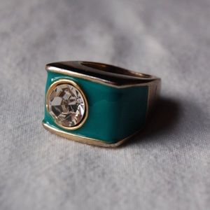 Turquoise & Diamond Fashion Ring