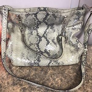 KORS Michael Kors Handbags - Michael Kors Brooke Python Tote