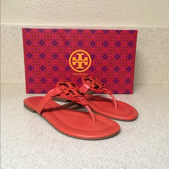 175505970109fb NEW Tory Burch  Miller 2  Dark Poppy Red Size 7.5
