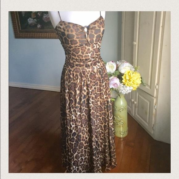 Spiegel Dresses Leopard Print Luxury Maxi Dress Poshmark
