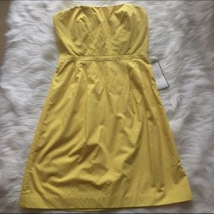 ⚜️ NWT - JCrew Occasions Canary Yellow Dress 8