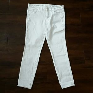 Madewell white skinny ankle jeans denim 30