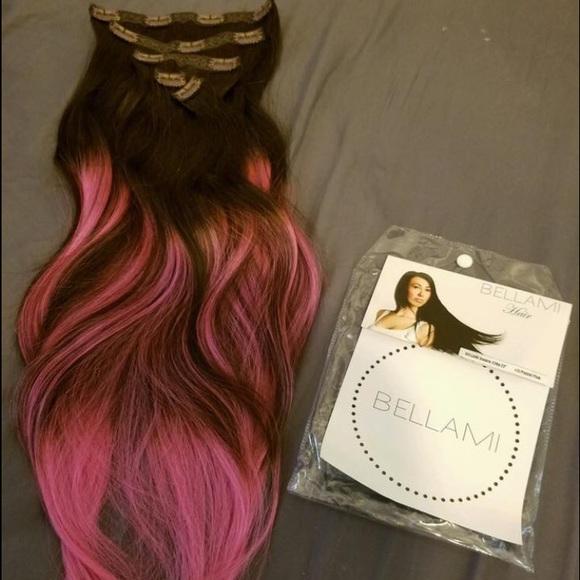 Bellami Accessories Hair Extensions Dark Brown To Pink Poshmark