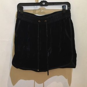 Juicy Couture Dresses & Skirts - Juicy Couture Black Velvet Mini Skirt S M