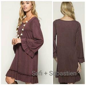93 off sofi sebastien dresses amp skirts plunge neck embroidered