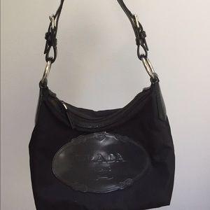 Prada black nylon purse bag