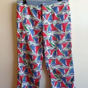 90's Vintage Tommy Hilfiger Printed Ankle Pants