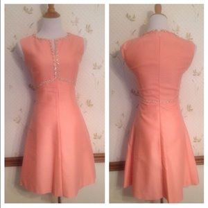 ⬇️ Vintage 1960's Pink Mini Dress , Mod, Scooter