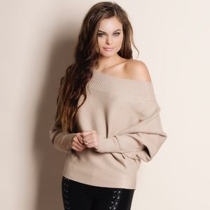 1DAYSALE Slouchy Off Shoulder Sweater Top