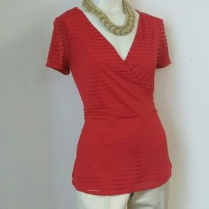 Thalia Sodi beautiful Red V-neck top size M