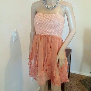 GB Dresses & Skirts - Peach Prom Dress