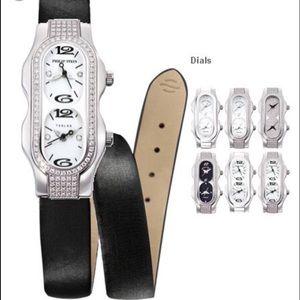 Phillip Stein Mini Diamond Teslar Watch