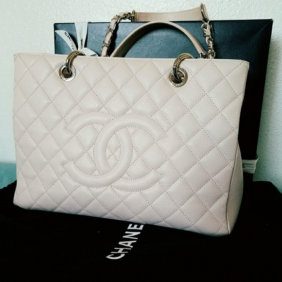 18786cf6351f CHANEL Handbags - Authentic Chanel GST Grand Shopping Tote