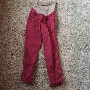 Red Maternity Pants