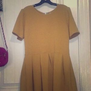 Lularoe 2xl Mustard Yellow Amelia Dress