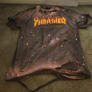 Distressed & bleached THRASHER tee