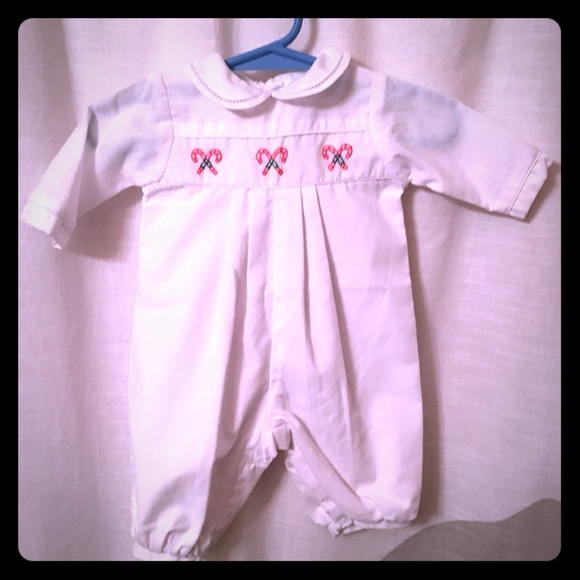 4a956a8af Petit Ami Preemie Smocked Christmas Outfit