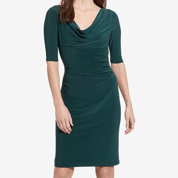 66ec7efd Lauren Ralph Lauren Dresses & Skirts - Ralph Lauren emerald green wrap dress  8 petite