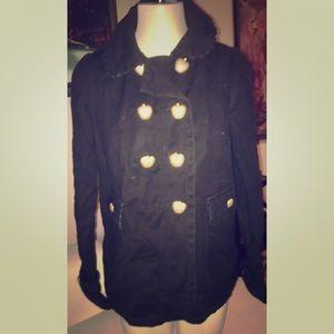 Juicy Couture Jackets & Blazers - BLACK HEAVY JUICY COUTURE PEA COAT, SZ M