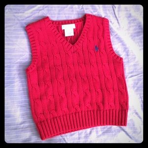 Ralph Lauren Other - NWT Ralph Lauren Red Sweater Vest (12 months)