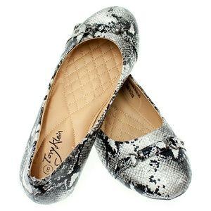 Tory K Shoes - Tory K Women Flats w. Roller Buckle b-1388, White