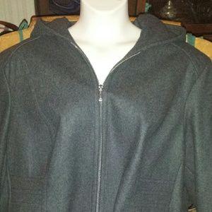 Anne Klein Jackets & Blazers - Fabulous plus size wool coat with hood