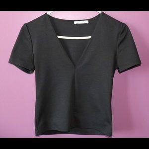 Zara black V-Neck Tee