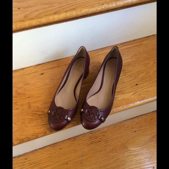 tory burch burgundy shoes