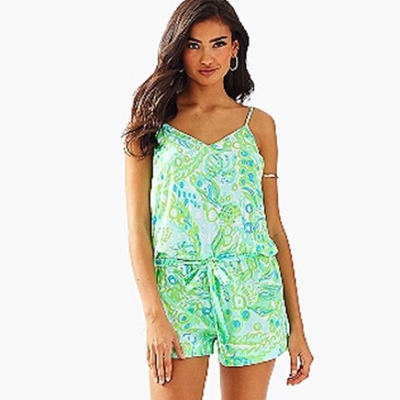 efa93c20003 Lilly Pulitzer Deanna Romper- any fins possible