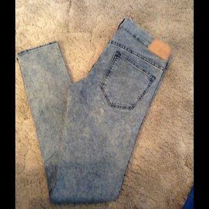 H&M Denim - Jr. Women's faded skinny jeans H&M Divided SZ 8