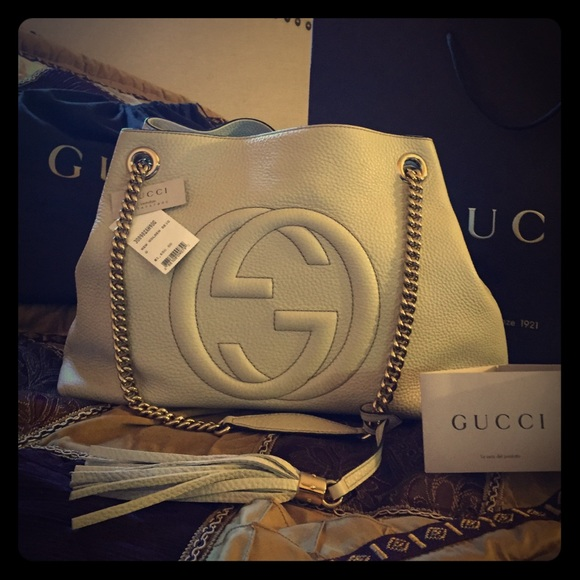Gucci Bags - GUCCI NEW AUTHENTIC 💯 soho leather shoulder bag