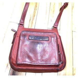 Fossil Handbags - Fossil long live vintage burgundy cross body purse