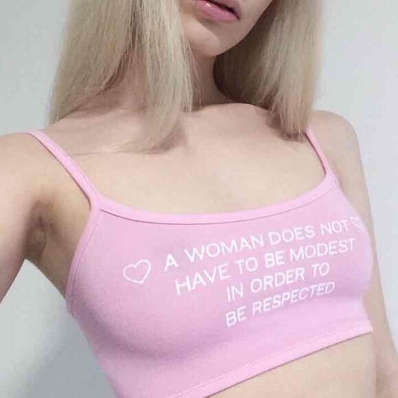 9148e4d2a7 Omighty A Woman Doesn t Have To Be Bralette Top