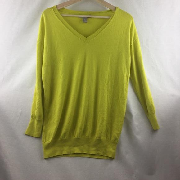 Banana Republic - SALE‼️Banana Republic Deep Neon Yellow Sweater ...
