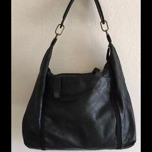 Lanvin Handbags - LANVIN Black Leather Quilted Shoulder Tote Bag